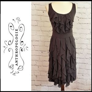 ANTHROPOLOGIE RIC RAC Vertical Ruffle Dress M